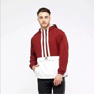 Adidas Men's Originals Anorak Jacket Noble Maroon